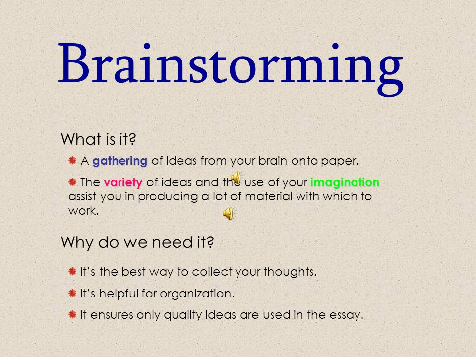 brainstorming brainstorming the key to successful essay writing   brainstorming the key to successful essay writing adapted from