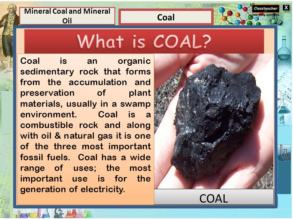 Element Elements And Compounds Coal Mineral Coal And Mineral Oil