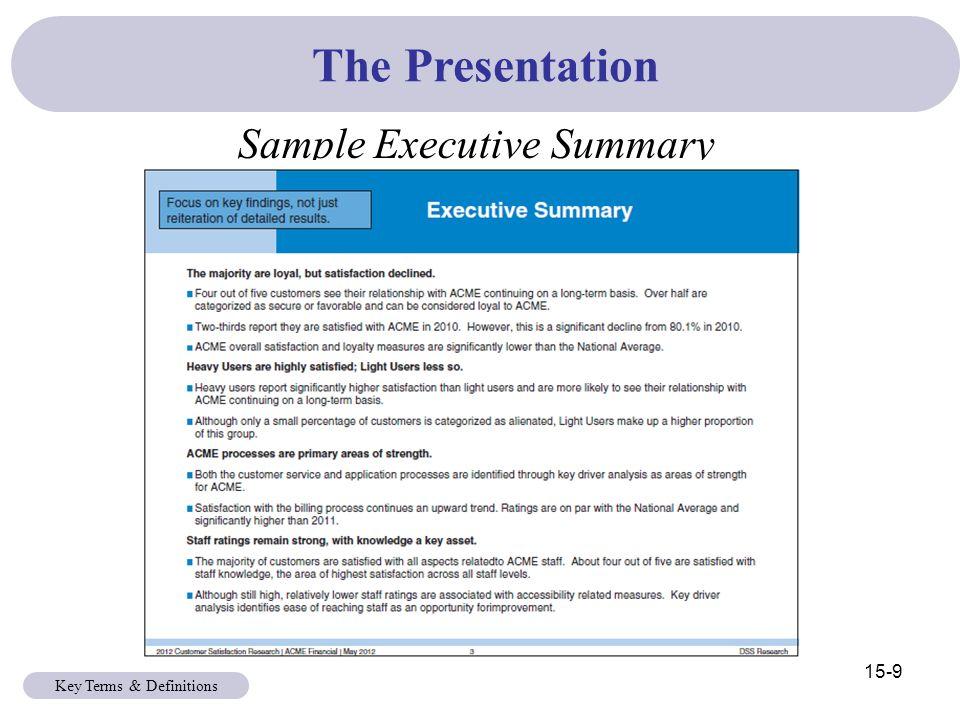 executive summary powerpoint slide example