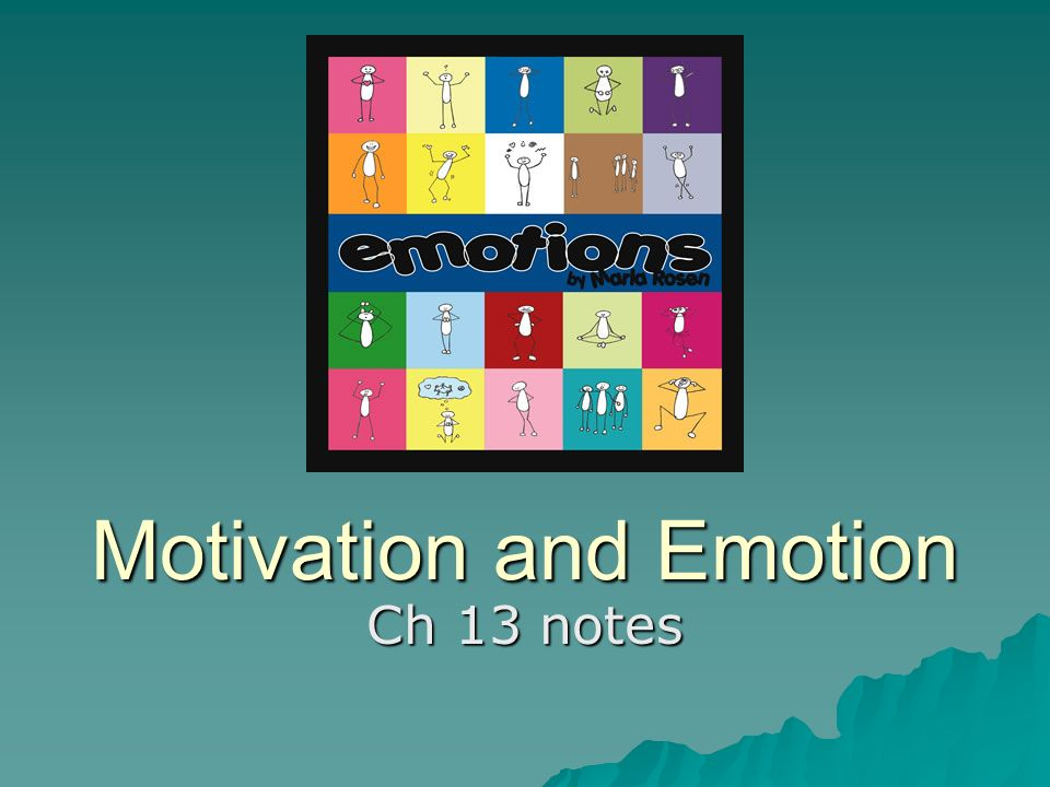 Motivation and Emotion Ch 13 notes  Questions????  1  Why did you