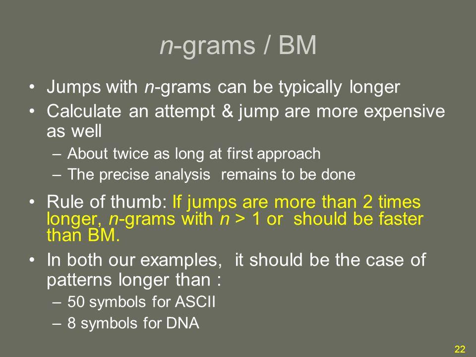1 Pattern Matching Using N Gram Sampling Of Cumulative Algebraic
