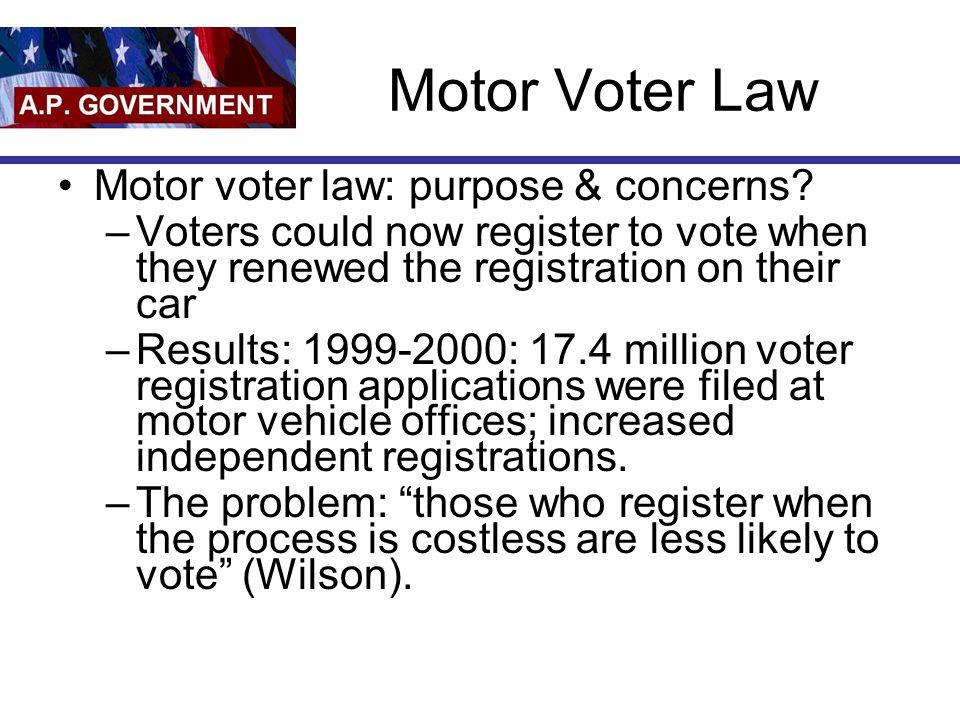 21 Motor Voter Law ...
