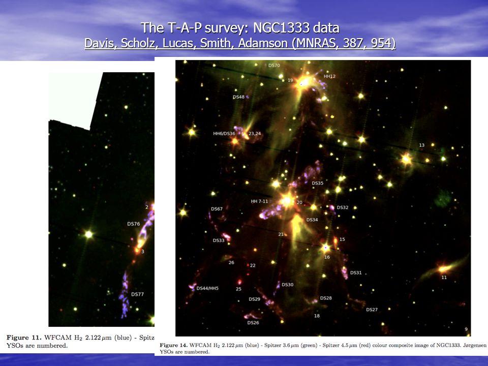 the t a p survey ngc1333 data davis scholz lucas smith adamson