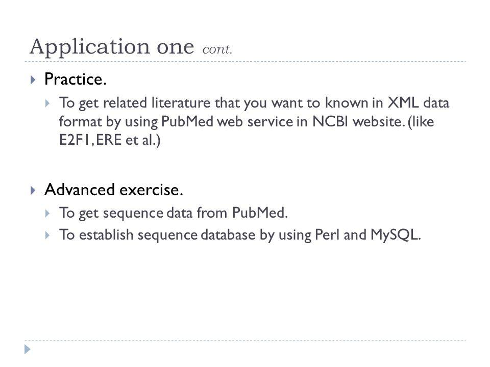 生物資訊程式語言應用 Part 5 Perl and MySQL Applications  Outline