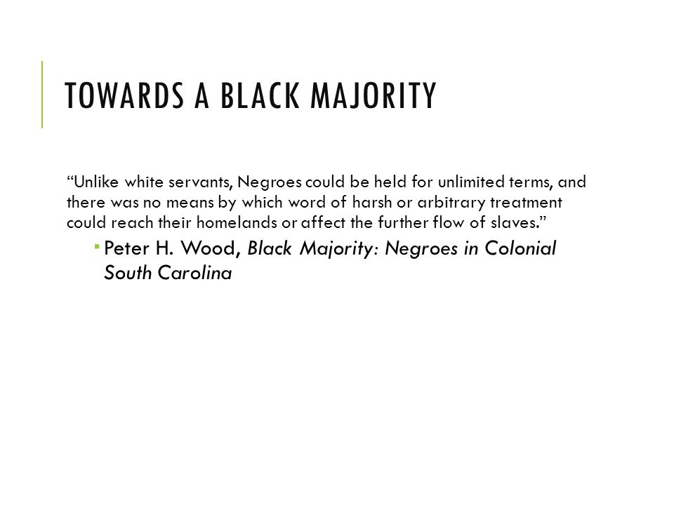 peter wood black majority