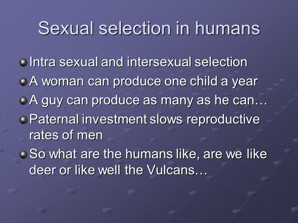 Intersexual selection in humans