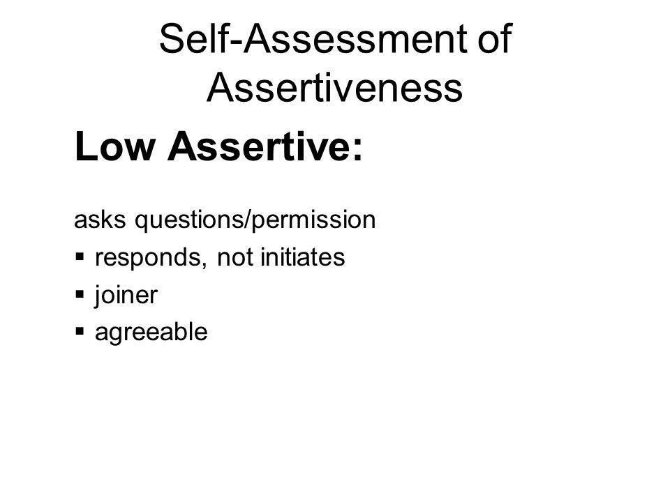 assertiveness self assessment