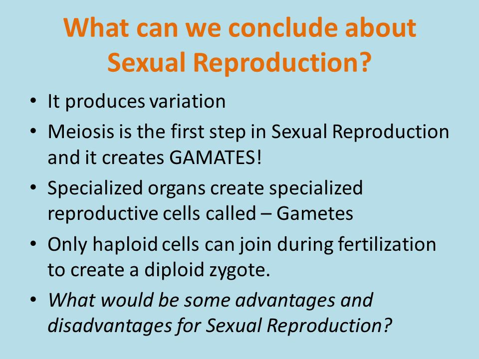 Advantages of sexual reproduction bbc bitesize