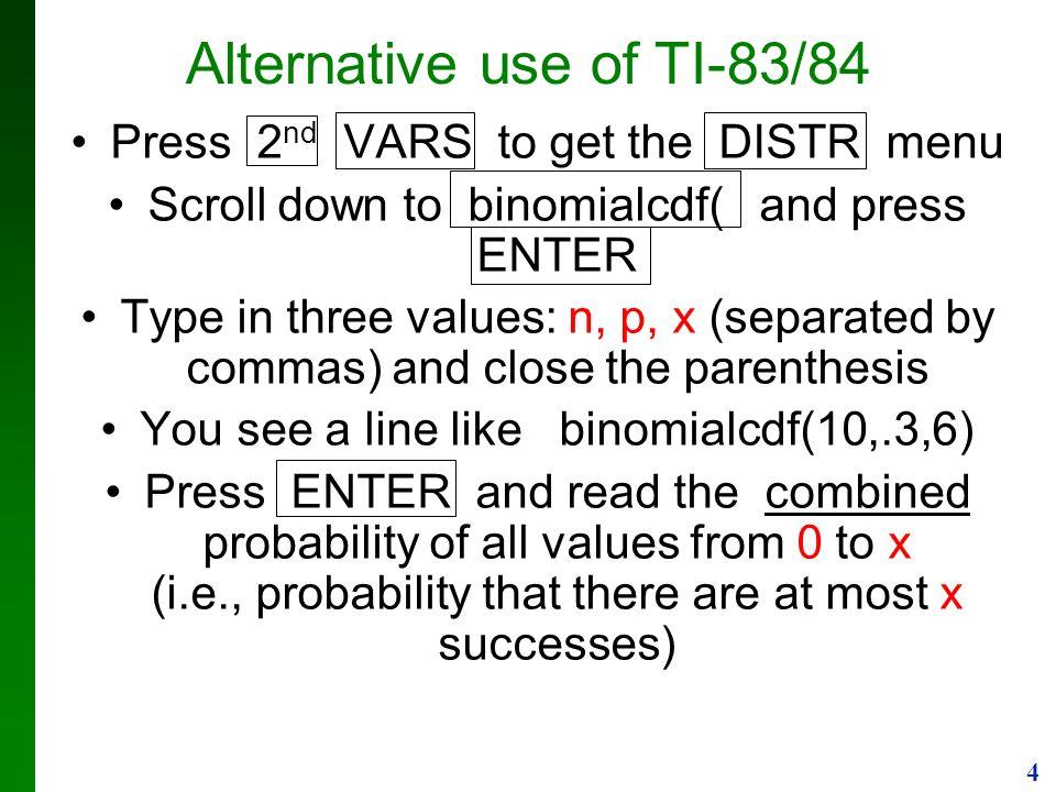 1 Using calculator TI-83/84 1  Enter values into L1 list
