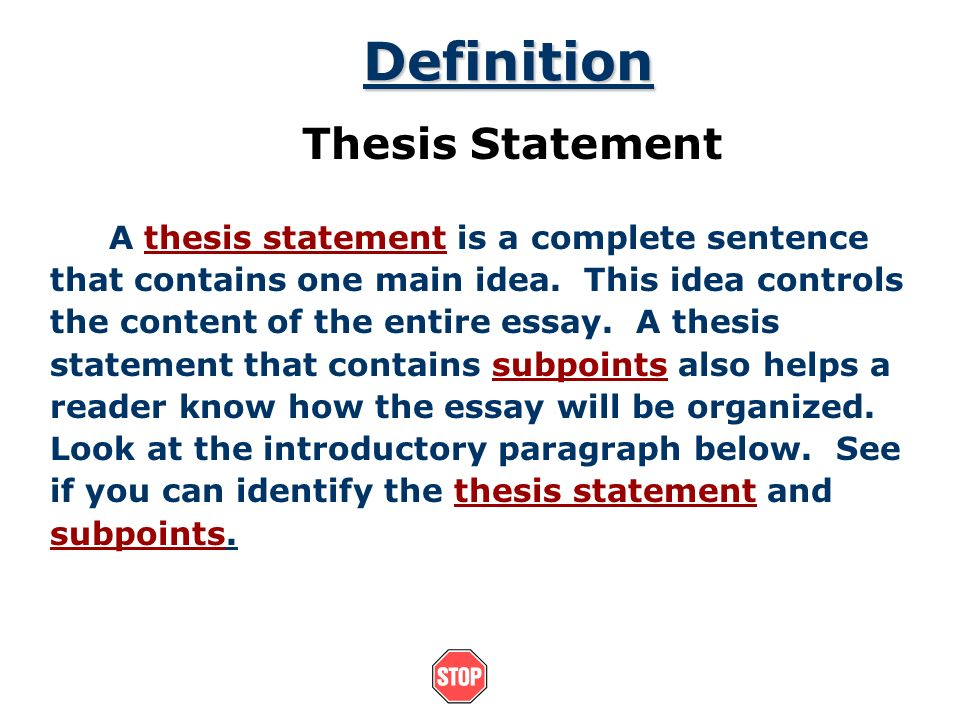 the thesis statement a road map for your essay essay introduction   introduction thesis statements after you have brainstormed and you have  some main ideas of what you would like to write in your essay you can  begin