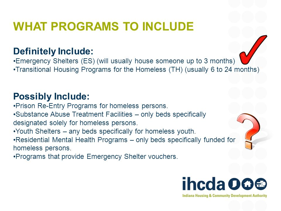 What Programs To Include Definitely Emergency Shelters Es Will Usually House: Homeless Program Excel Spreadsheet At Alzheimers-prions.com