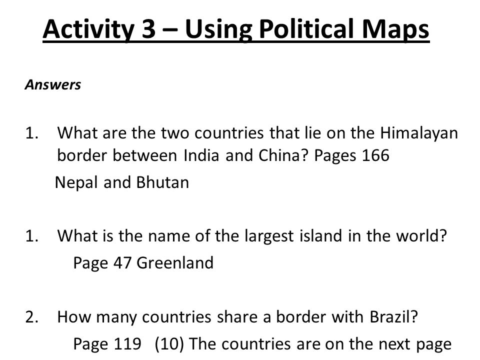 Physical geography introduction engage pick a place in the world you activity 3 using political maps use the world political map on pages 166 47 gumiabroncs Images