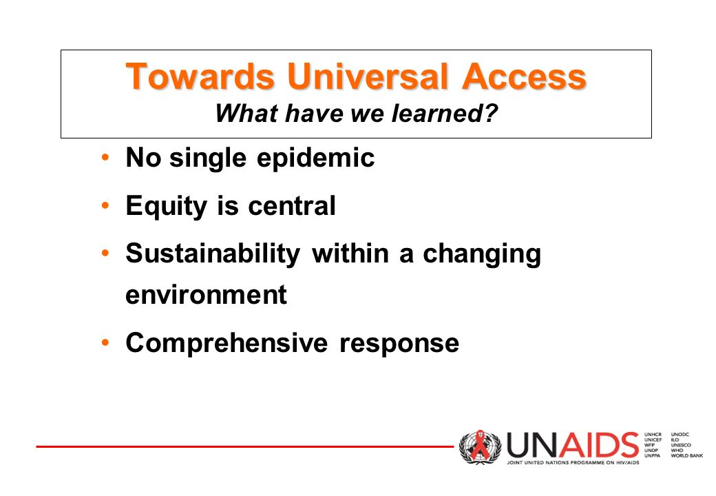 Towards Universal Access Towards Universal Access What have we learned.