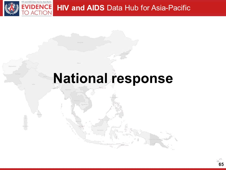 HIV and AIDS Data Hub for Asia-Pacific National response 65