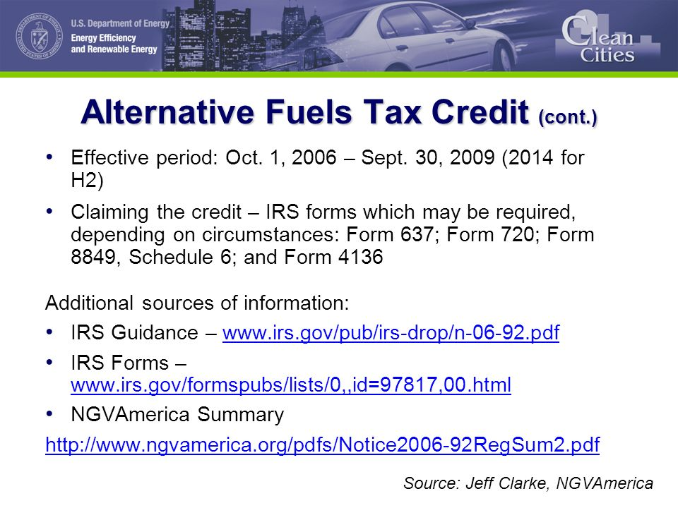 The Clean Cities Program Alternative Fuels Federal Incentives