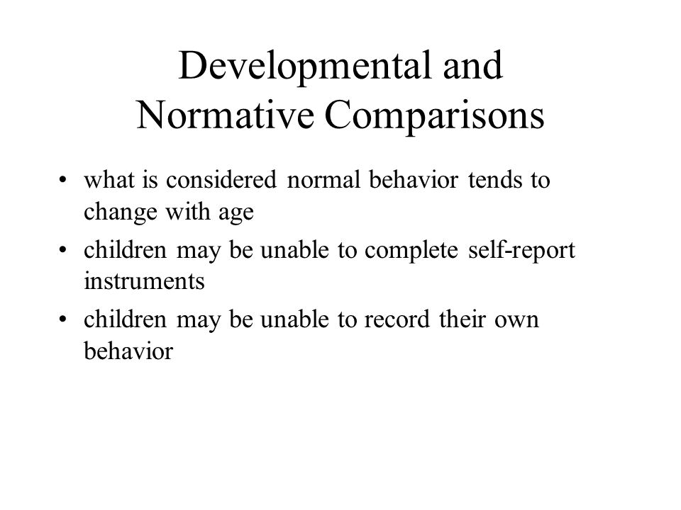 what is considered normal behavior