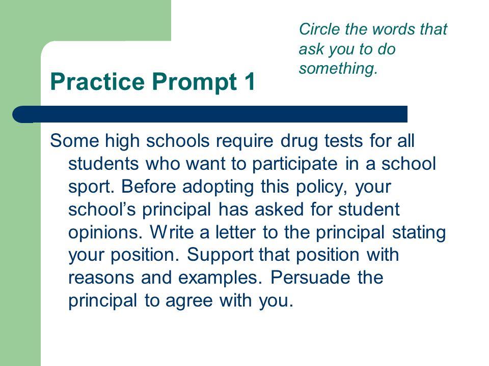 essay on drug testing highschool athletes