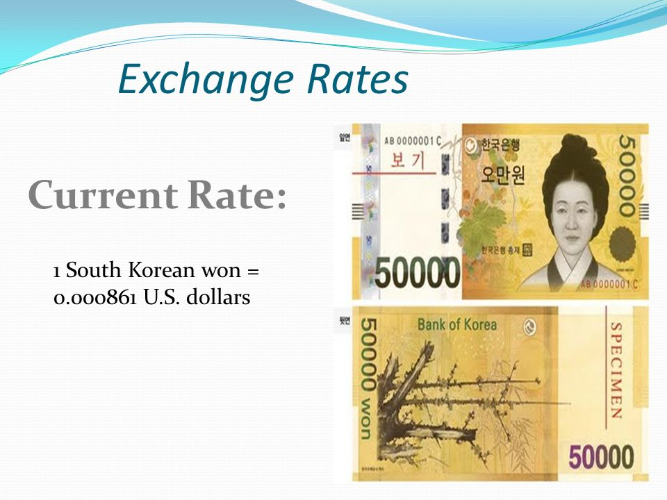 Dollars To Won Currency Exchange Rates