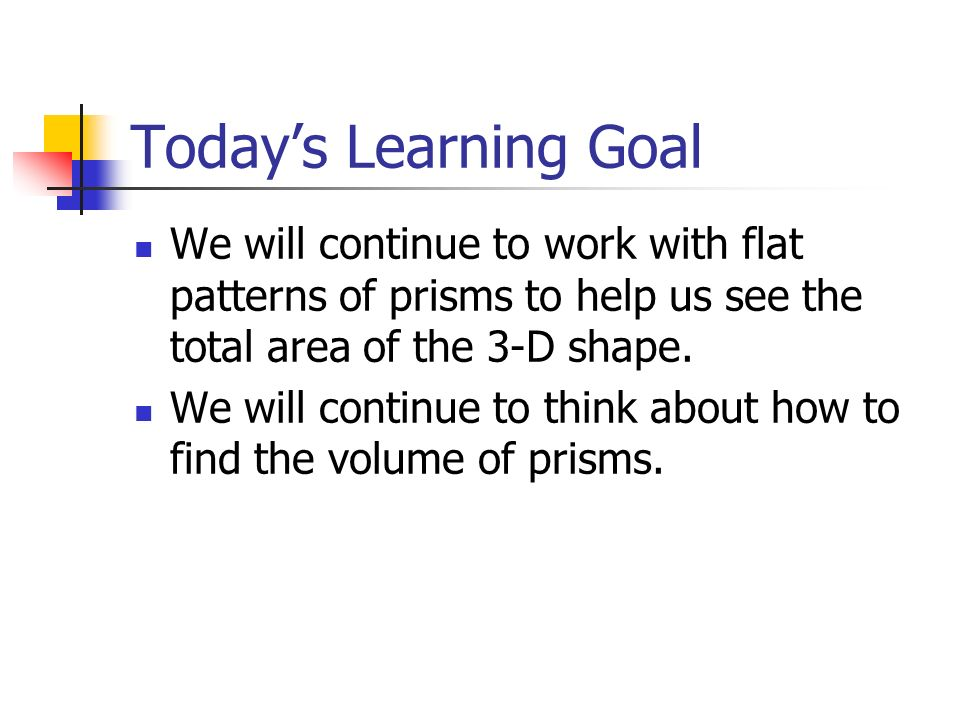 Surface Area And Volume Of Prisms Investigation 2