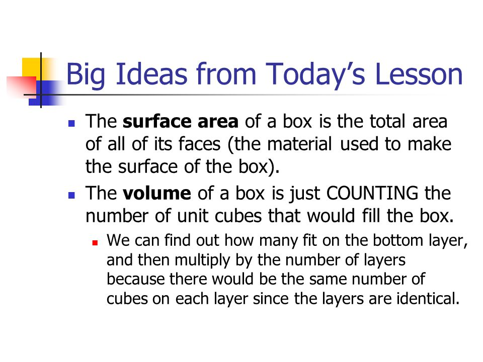 For those that finish early A number cube is designed so that numbers on opposite sides add to 7.
