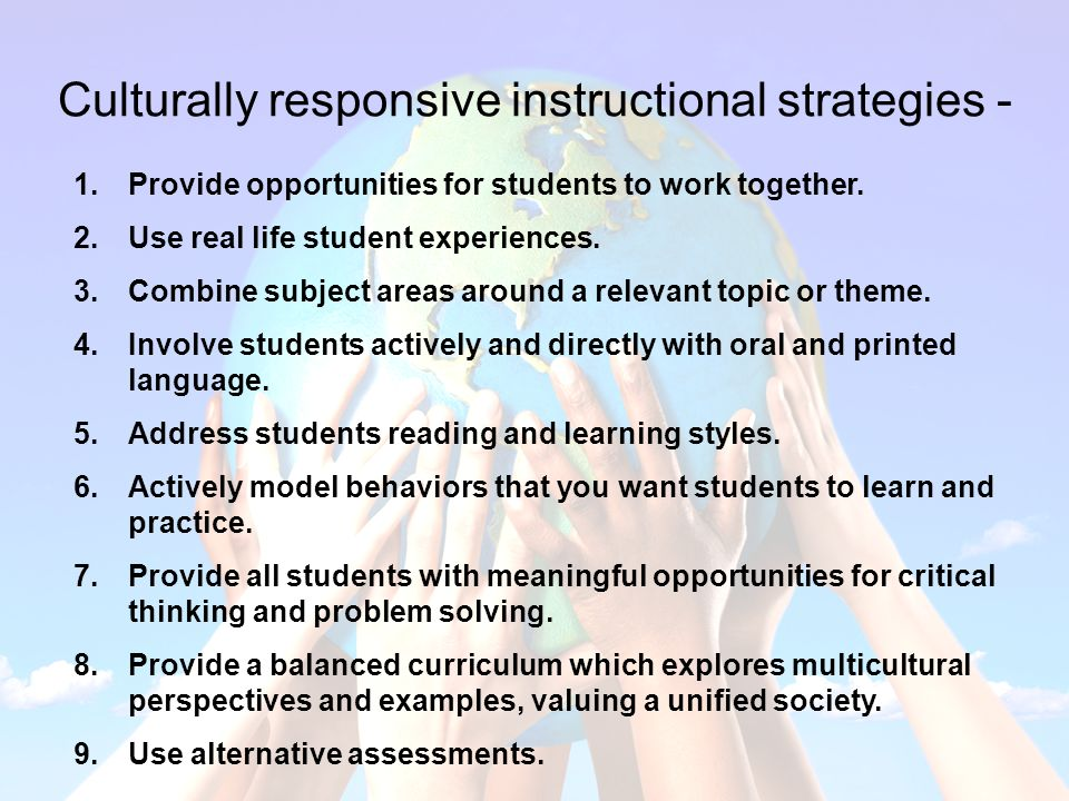 Culturally Responsive Curriculum, Assessment, and