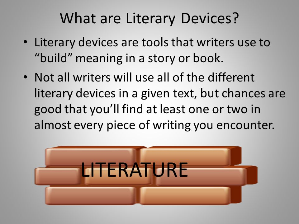 how to find literary devices