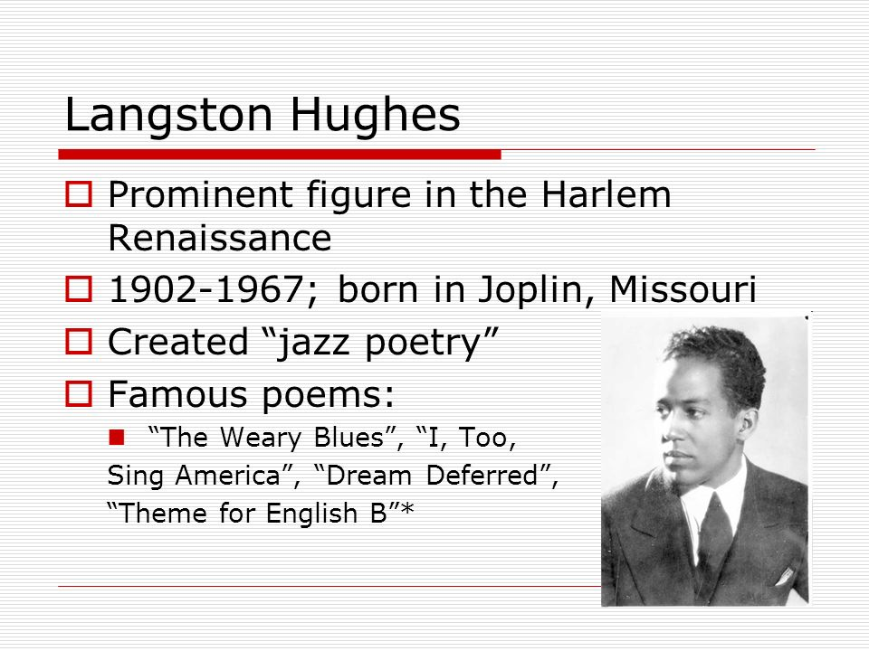 langston hughes poem dream deferred The poem a dream deferred by langston hughes basically describes what happens to dreams when they are put on hold the speaker in the poem originally entitled it.