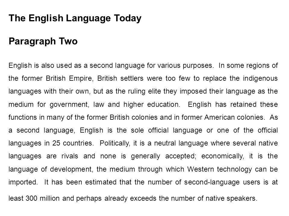 paragraph about language