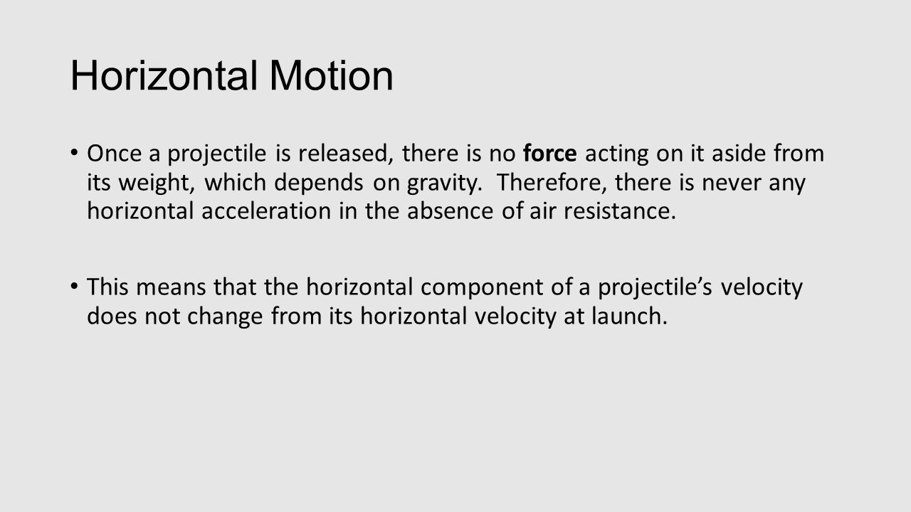 Vertical Motion Objects in free fall are affected by acceleration due to gravity, a rate of 9.8 m/s/s on earth.