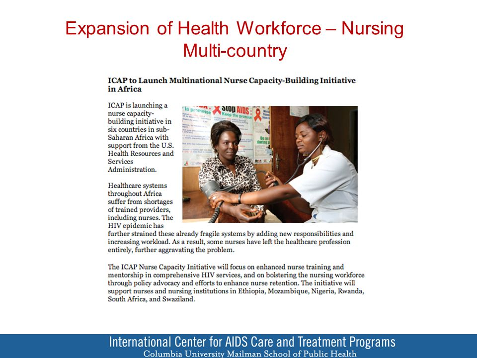 Expansion of Health Workforce – Nursing Multi-country