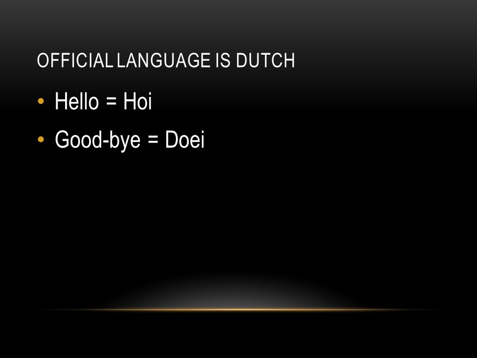 how to say good in dutch