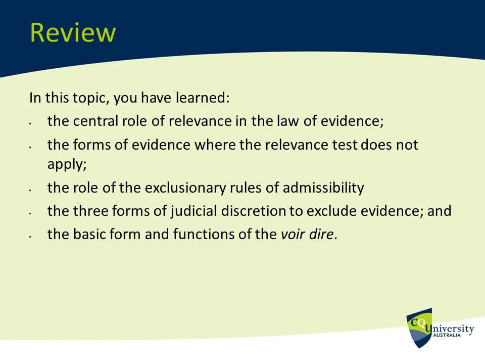 difference between relevance and admissibility