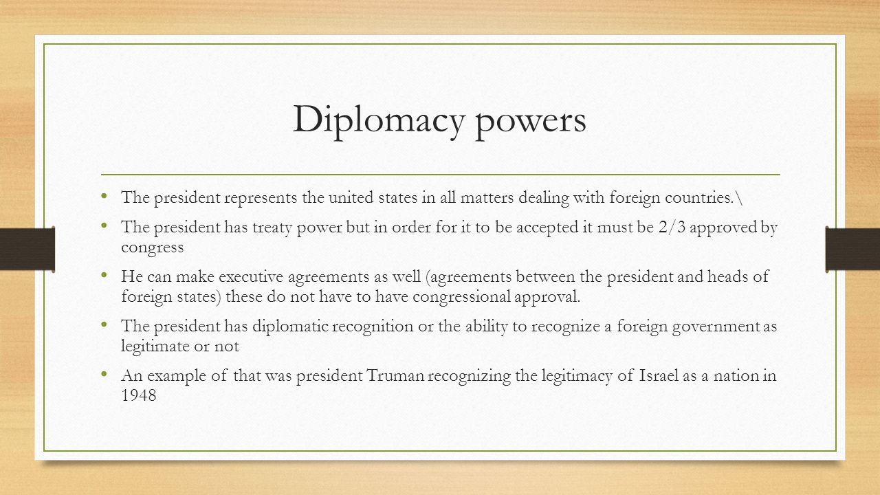 Chapter 6 The Presidency Section 1 The President Ppt Download