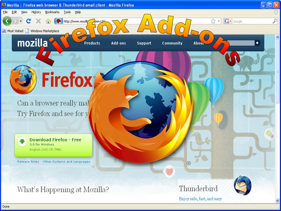 Mozilla Firefox is a web browser descended from the Mozilla
