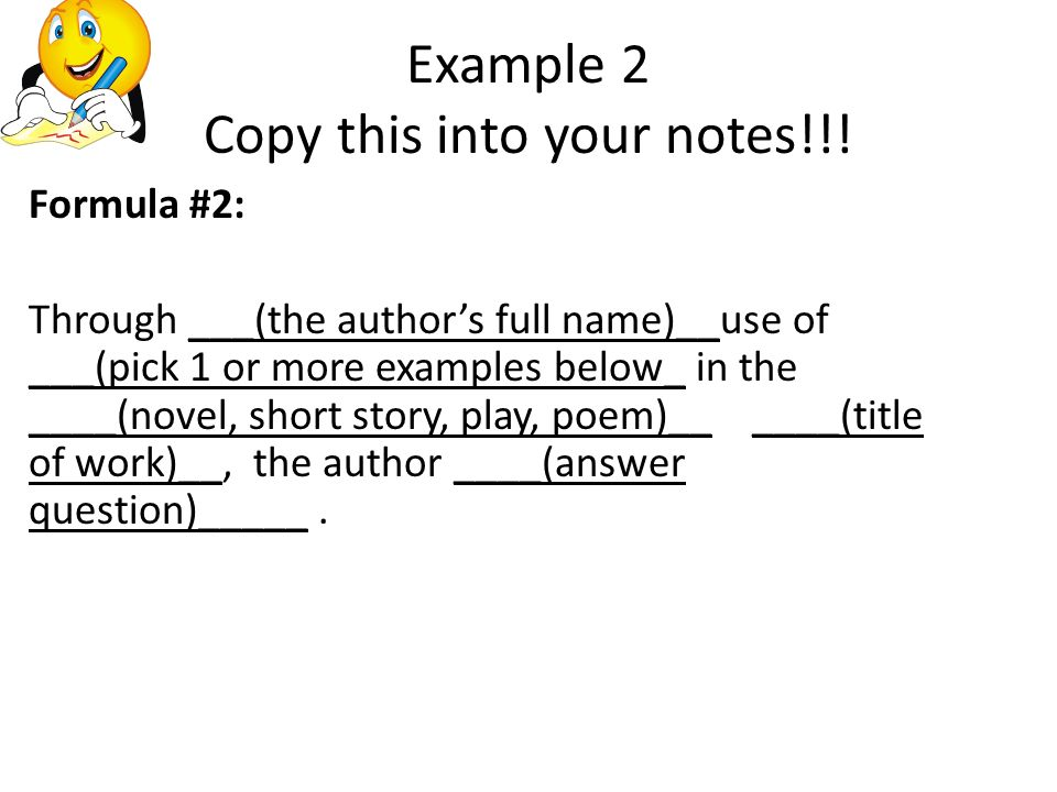 Example 2 Copy this into your notes!!.
