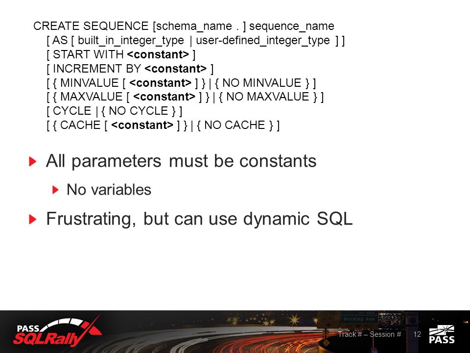 WHAT SEQUENCE OBJECTS ARE (and are not) Presentation by