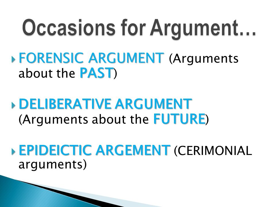 define ceremonial argument