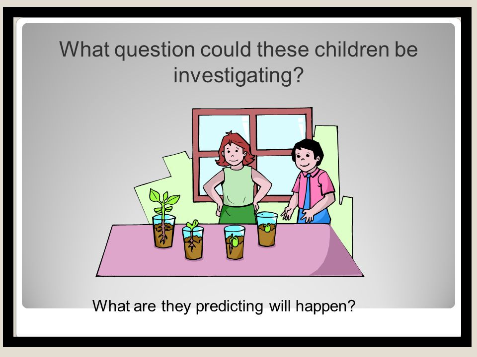 OBSERVE and ask questions All investigations start with a question .