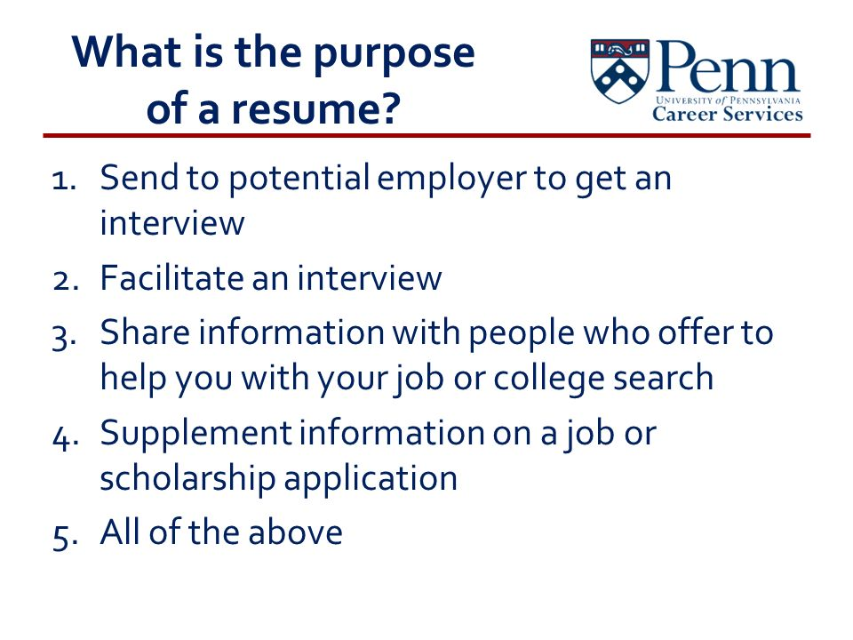 Resume Writing Workshop Presenting Your.