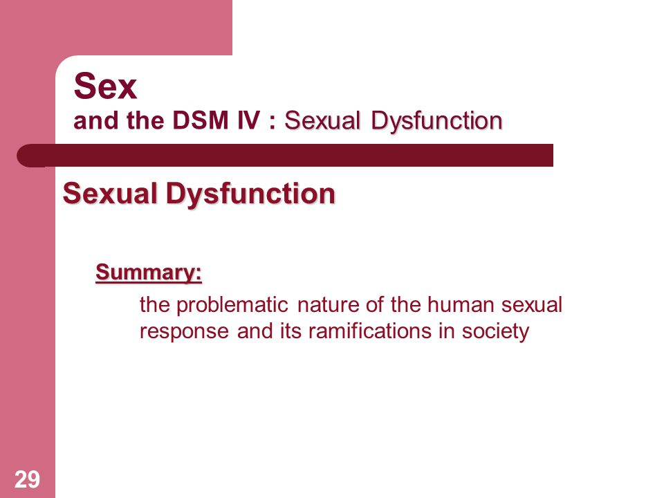 Dsm iv sexual disorder nos
