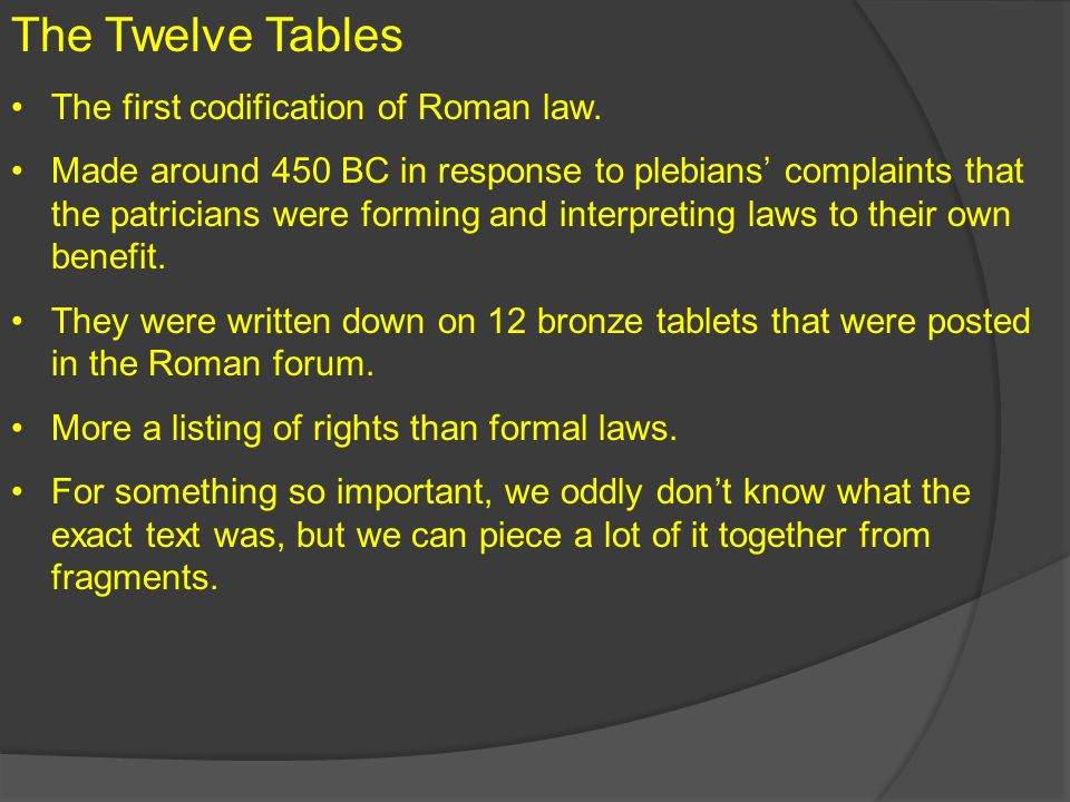 why were the 12 tables important