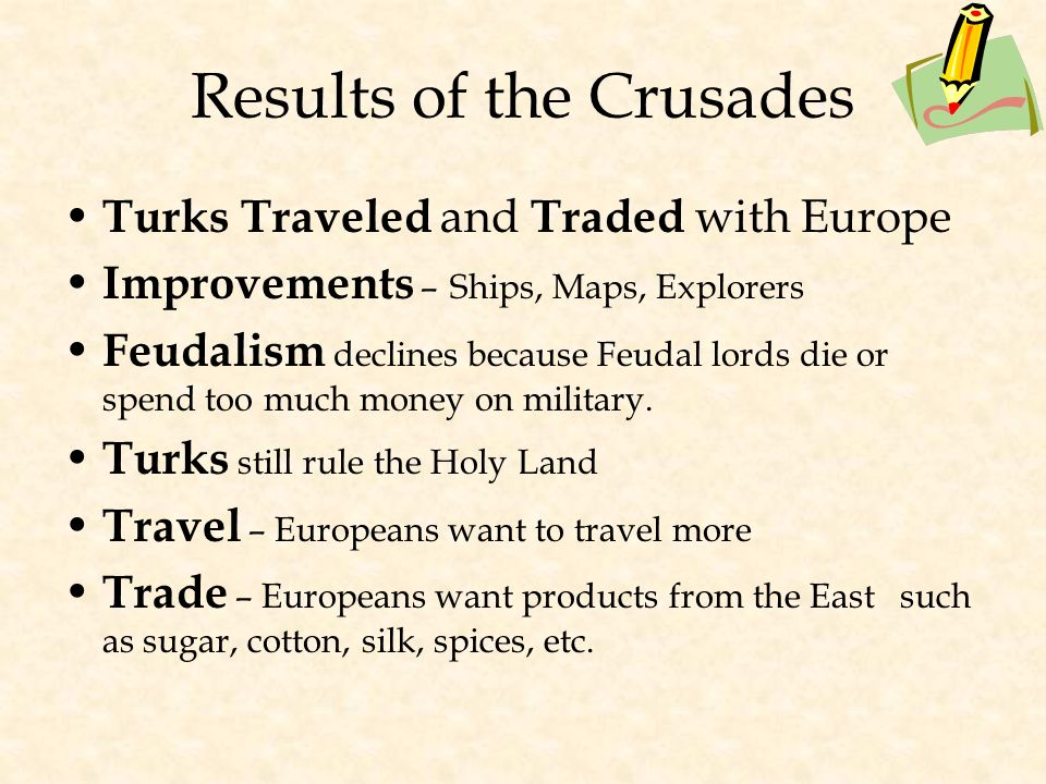 Crusades Continue Through 1200's Several more crusades attempted with no victories for the Christians Children's crusade, - 30,000 soldiers - many of them under 12 years old – Never made it to the Holy Land