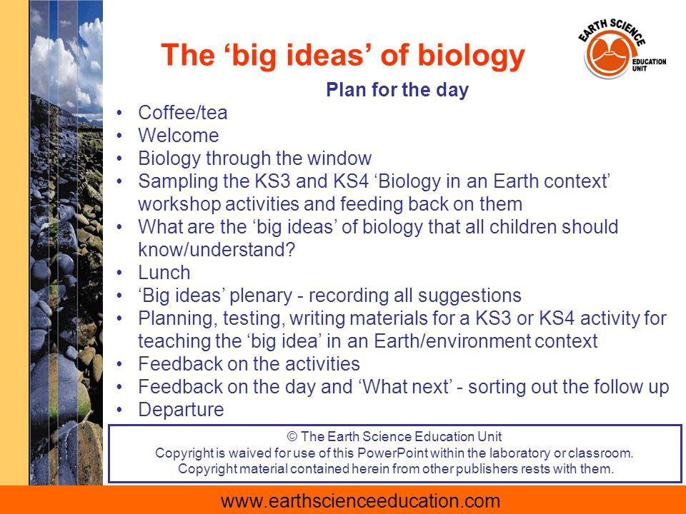 Teaching The Big Ideas Of Biology Through An Earth Context Ppt