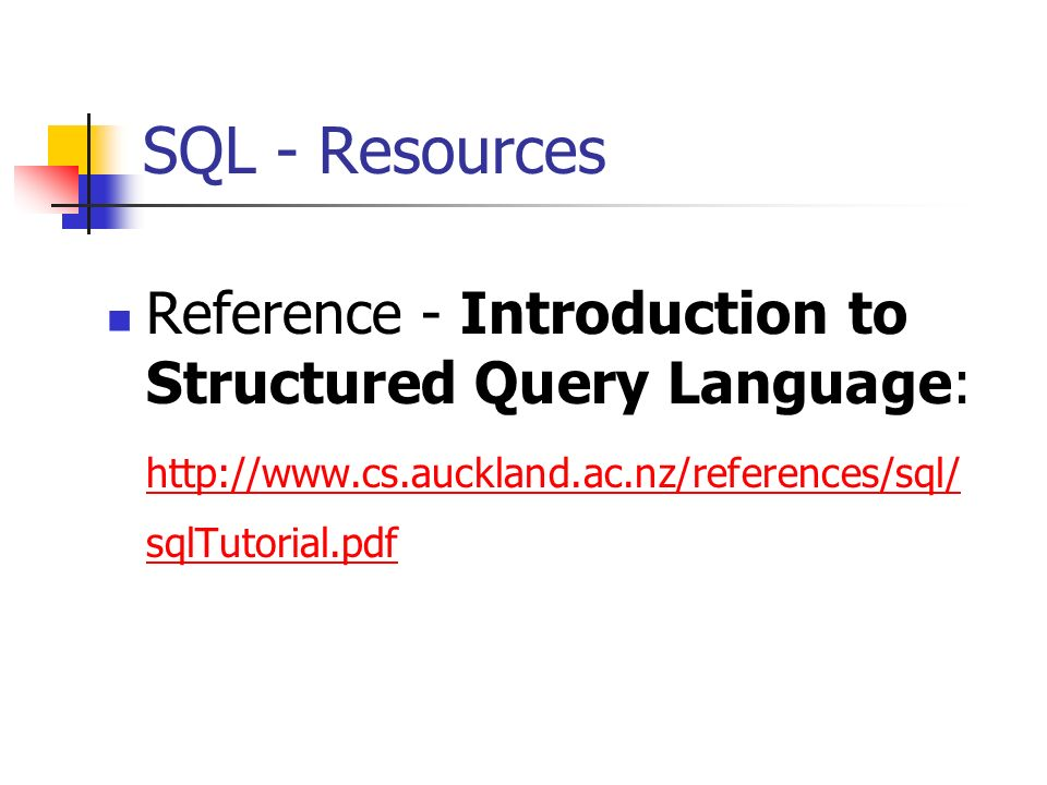 Sql Introduction Pdf