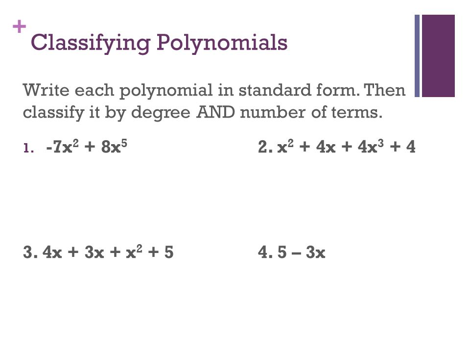 Warm Up 1 Polynomials Unit Polynomial Functions Ppt Download