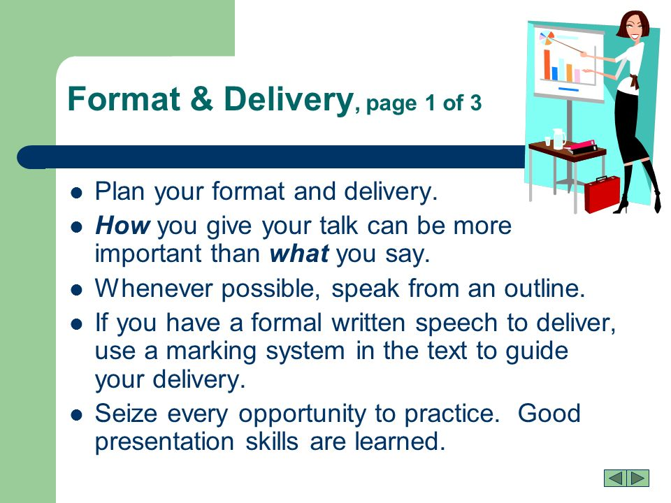 Presentations That Work What\'s here? What Do They Want/Need? What Do ...