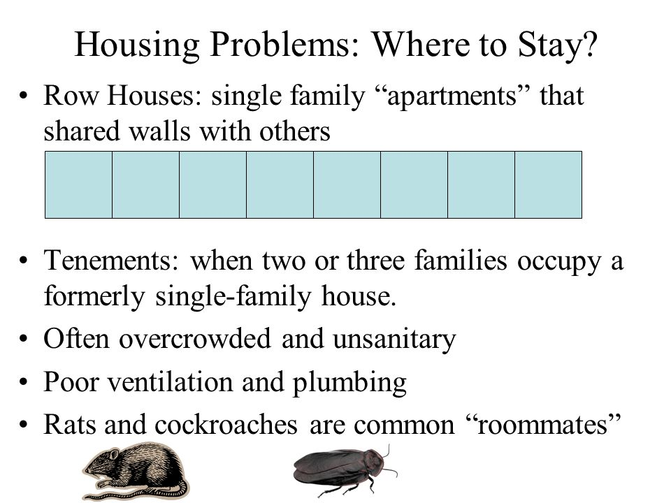 Housing Problems: Where to Stay.