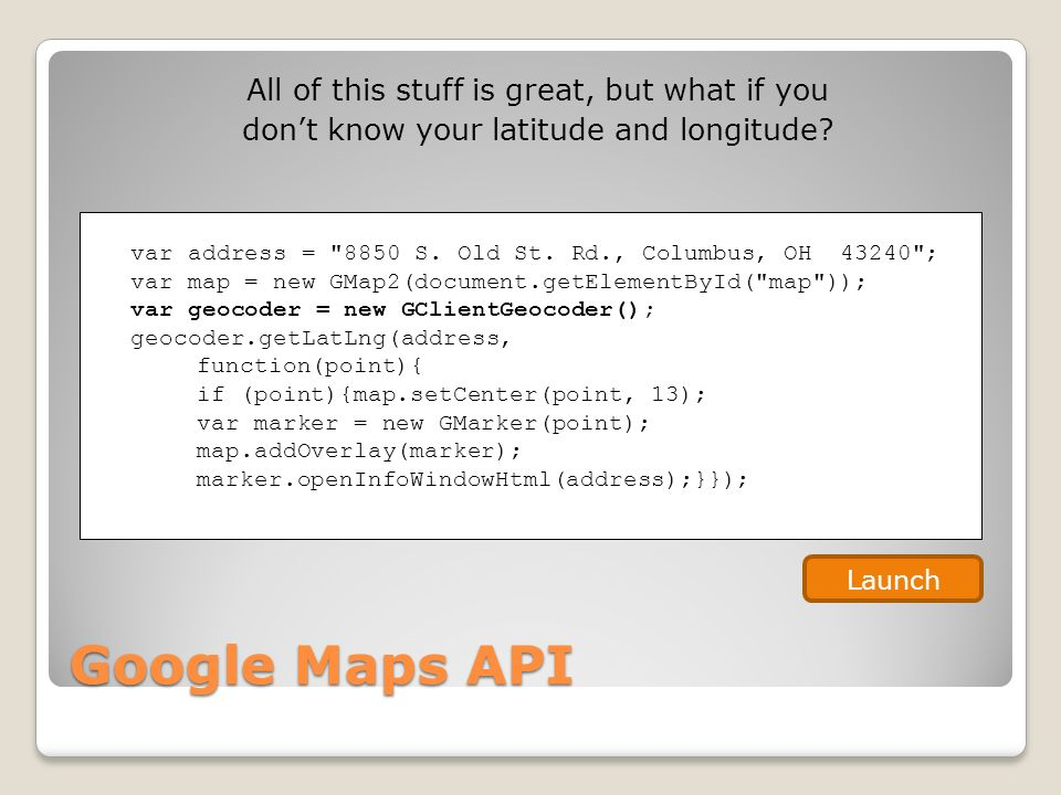 Google APIs Why Aren't You Using Them? Jeff Blankenburg Project