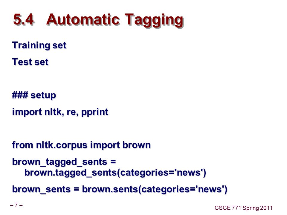 Lecture 10 NLTK POS Tagging Part 3 Topics Taggers Rule Based Taggers