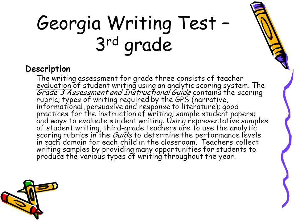 Grade 3 level 3 writing sample.